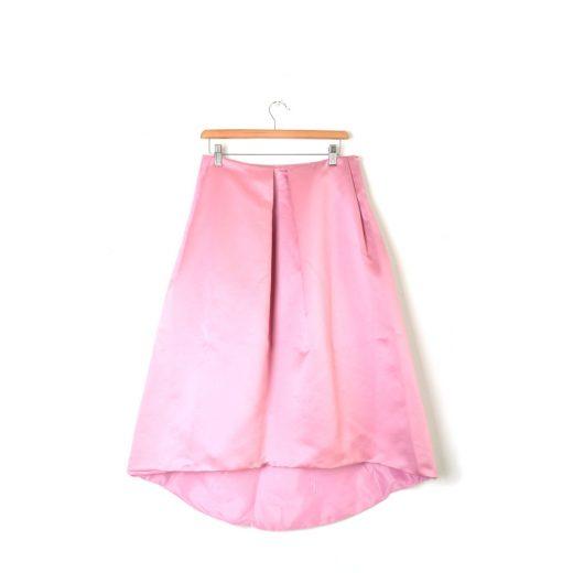 Falda rosa de raso El Corte Inglés