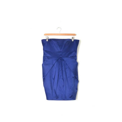 Vestido palabra honor azul Formula Joven