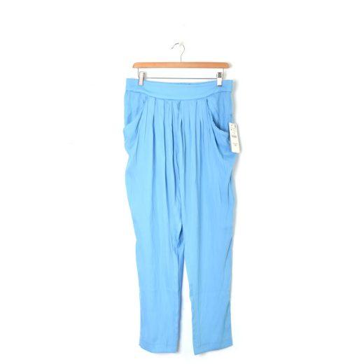 Pantalón flojo azul Zara