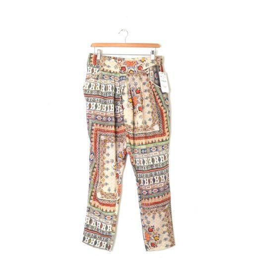 Pantalón estampado flojo Zara