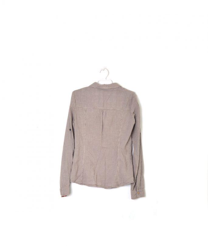 camisa cuadros marrón manga larga bershka espalda