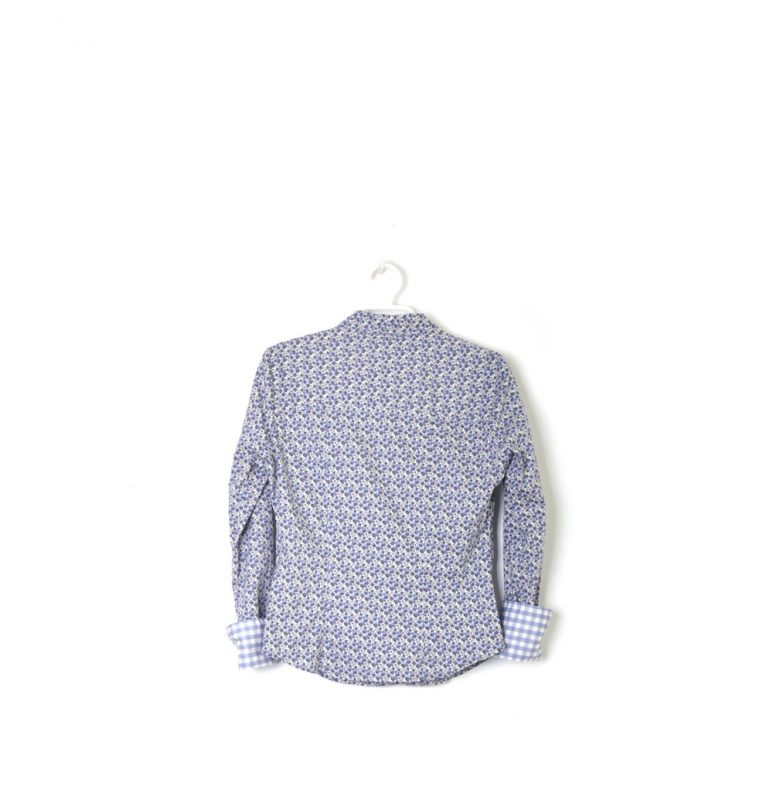 camisa flores azul manga larga Vero Moda espalda