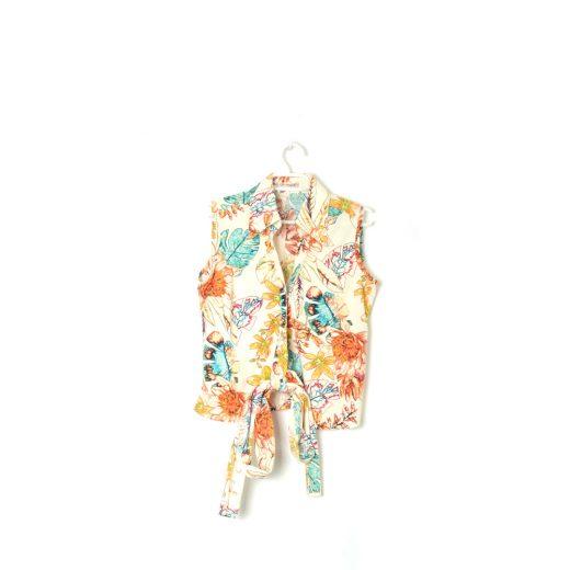 camisa sin mangas lazada estampado hojas dresslok