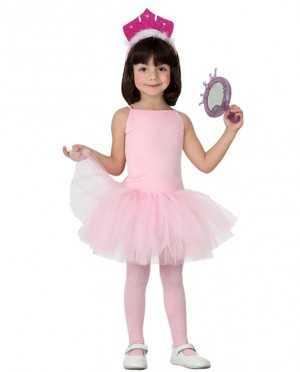 disfraz bailarina rosa tutú infantil atosa