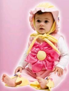 disfraz bebe flor josman