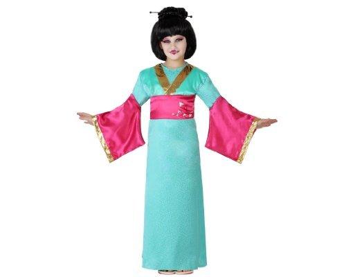 disfraz geisha azul y rosa atosa