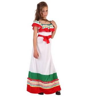 disfraz mexicana infantil blanco atosa