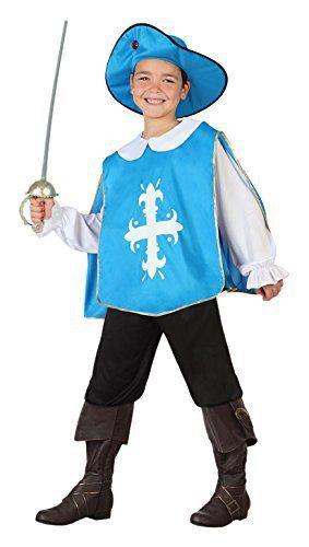 disfraz mosquetero azul infantil atosa