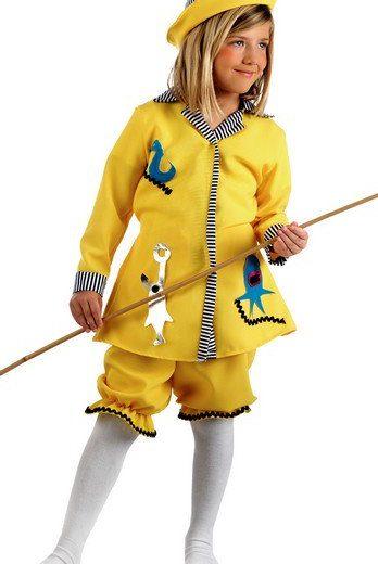 disfraz pescadora marinera amarilla limit infantil