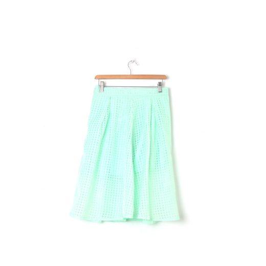 Falda tul cuadros verde agua Blanco