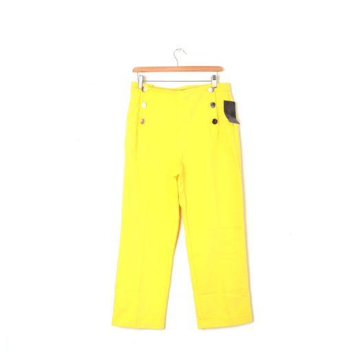 pantalón amarillo largo Zara