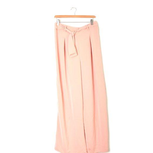 pantalon flojo vestir rosa palo stradivarius