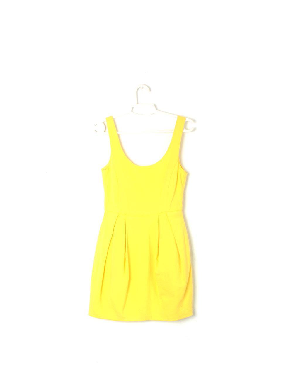 vestido amarillo tiras zara