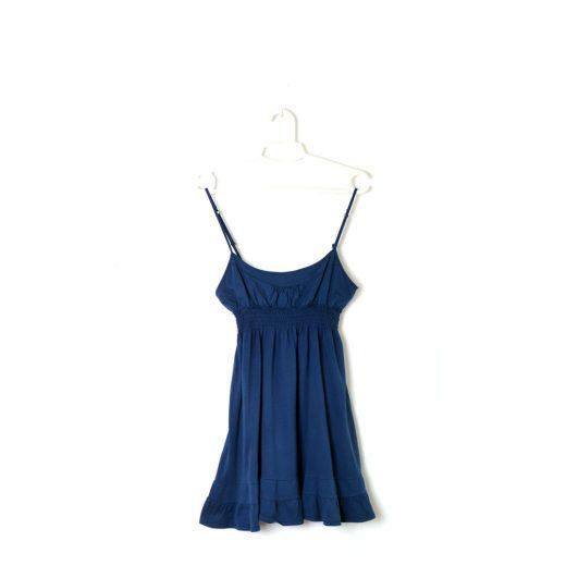 vestido azul volantes pull&bear