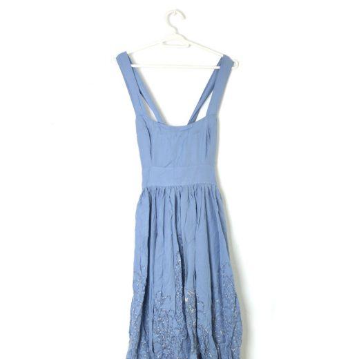 vestido azul tiras globo rutzou