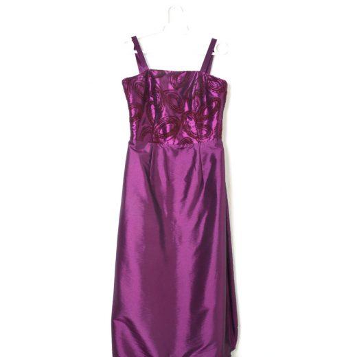 vestido morado raso señora tiras