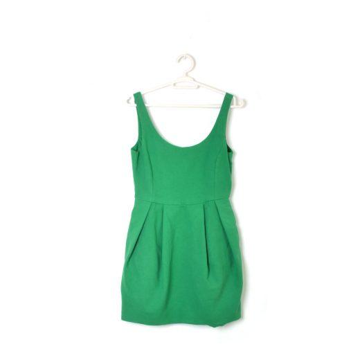 vestido verde corto tiras Zara