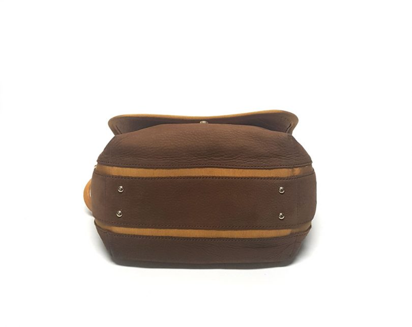 bolso marron piel purificacion garcia