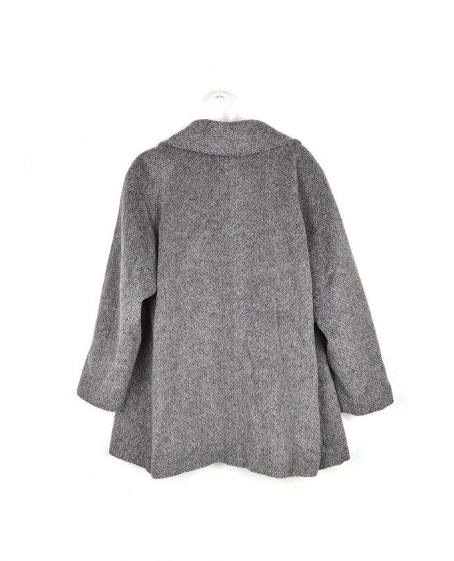 abrigo gris largo tallaymoda