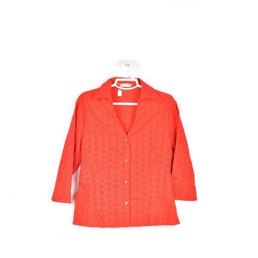 camisa roja media manga frente Cortefiel Eurofiel