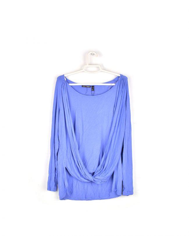 camiseta doble manga larga azul Punto Roma frente