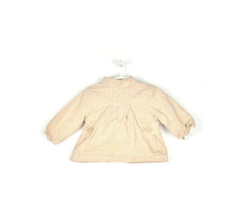 chaqueta cuadros beige infantil espalda