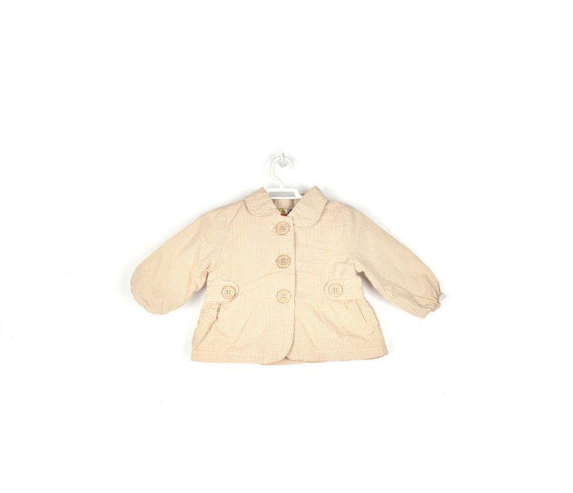 chaqueta cuadros beige infantil frente
