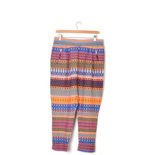 pantalon flojo estampado multicolor stradivarius