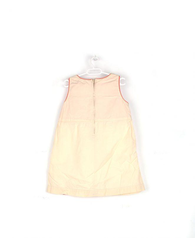 vestido minnie beige espalda