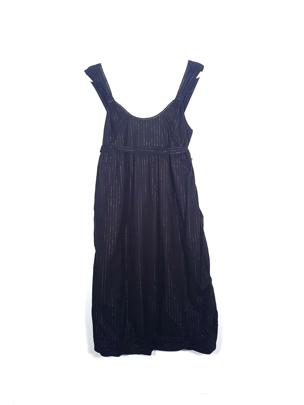 d736089c1 Vestido negro rayas Benetton