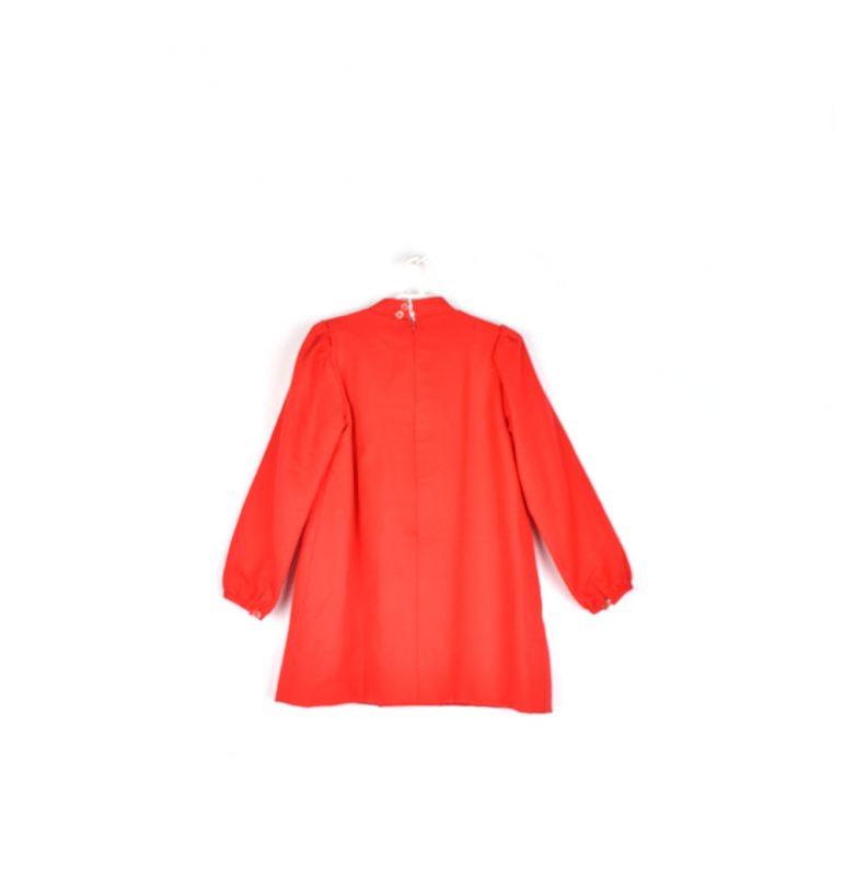 vestido niña rojo lazo espalda