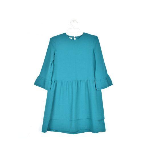 vestido Carolina azul agua volantes Clo&tilde Oh La La niña frente
