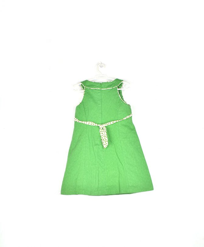 vestido verde niña sanmar espalda