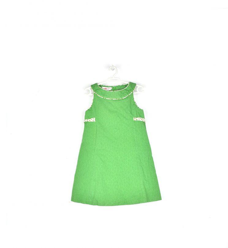 vestido verde niña sanmar frente