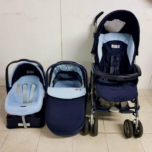 Carro Prenatal de 3 piezas y accesorios.