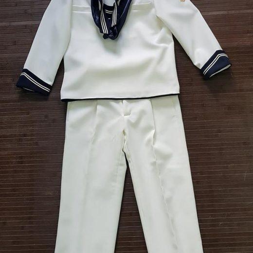 traje comunión marinero blanco