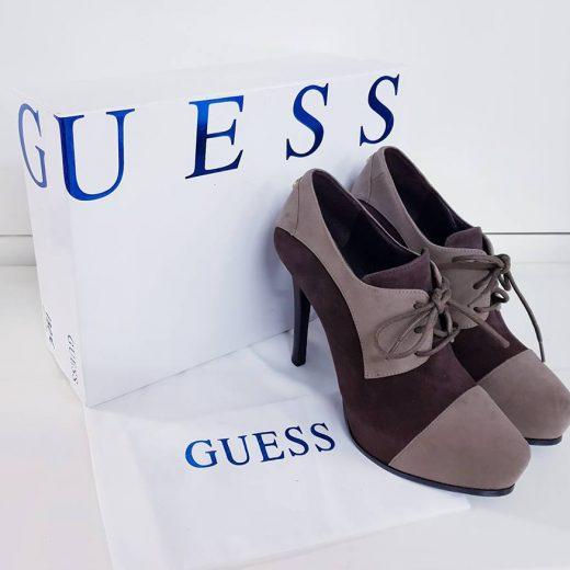 Zapatos tacón plataforma abotinados piel GUESS