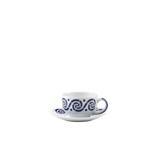 taza café con plato espiroide sargadelos