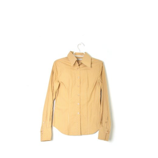 camisa rayas mostaza rayas manga larga tommy hilfiger