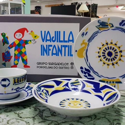 Vajilla Infantil Sargadelos Porcelana do Castro.
