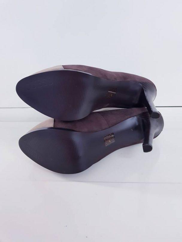 Zapatos tacon plataforma abotinados piel GUESS suela