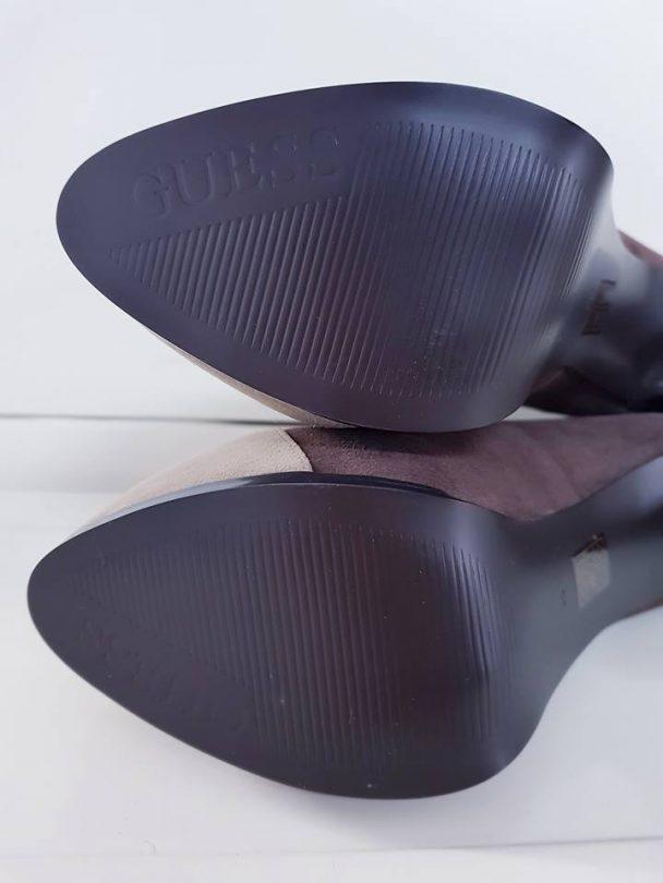 Zapatos tacon plataforma abotinados piel GUESS suela 2