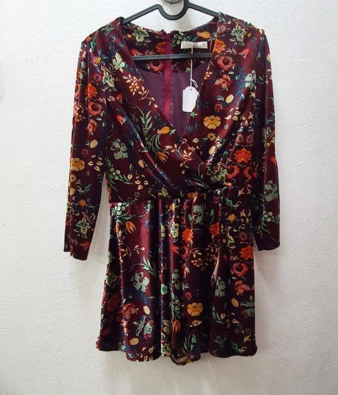 Vestido estampado floral Mango
