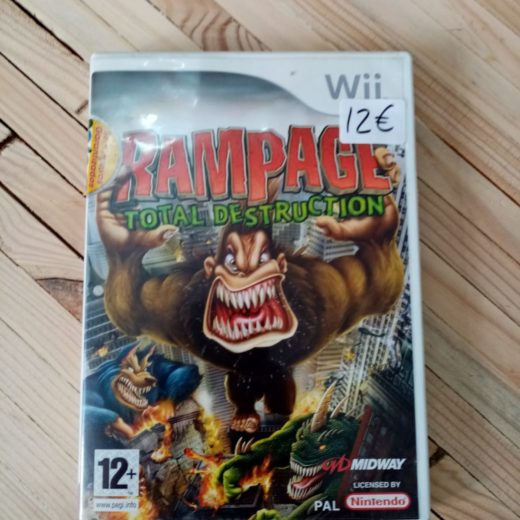 Juego Wii Rampage Total Destruction
