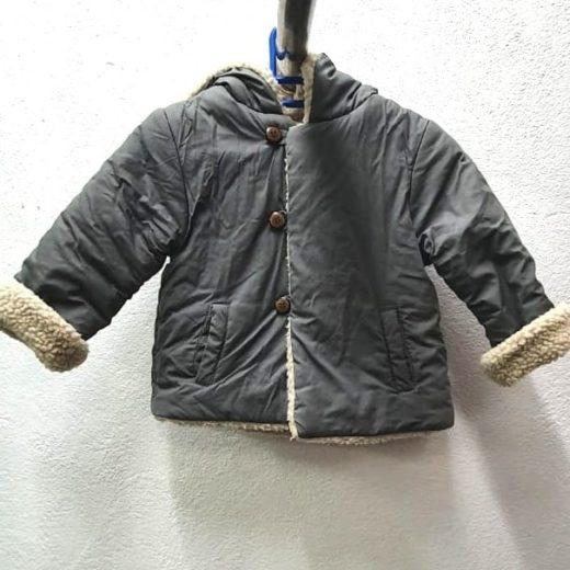 Abrigo Infantil Gris Zara