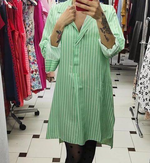 Vestido Camisero Verde ZARA
