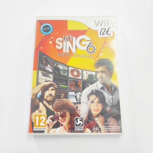 Juego Wii Let´s Sing 6 Versión Española