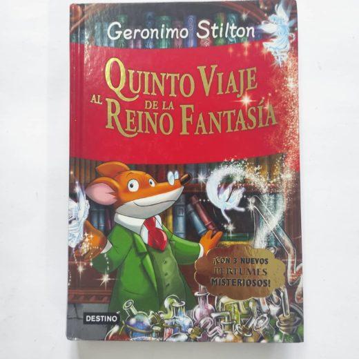 Libro Geronimo Stilton Quinto Viaje al Reino de la Fantasía